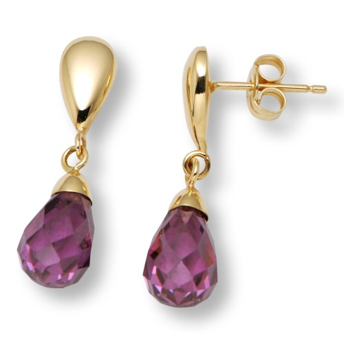 Gold Earrings, 18ct Yellow Gold, Amethyst and Amethyst Drops, by Miore-Joven, MAE62Y