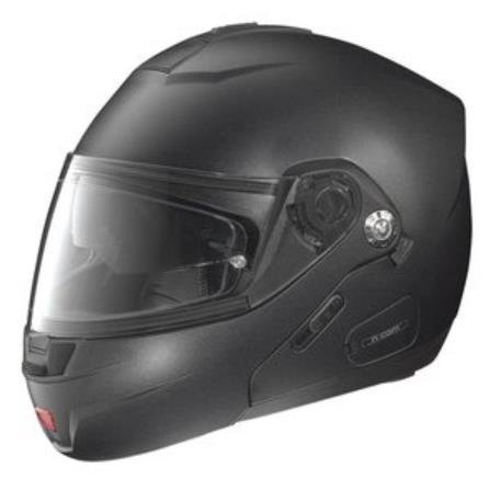 Nolan N44 Trilogy Outlaw Helmet (Flat Black, Large)