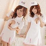 ナースコスチューム(ホワイト)/看護婦/ コスプレ/衣装/ハロウィン/クリスマス/撮影E112