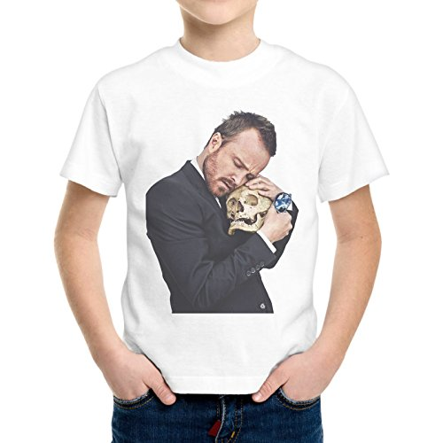 T-Shirt Bambino Ragazzo Jesse Pinkman Teschio Skull Breaking Bad -
