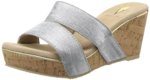 Volatile Women'S Oleander Wedge Sandal,Silver,8 B Us front-857118