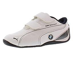 PUMA Drift Cat 5 BMW Velcro Sneaker (Infant/Toddler/Little Kid),White/White/Bmw Team Blue,6 M US Toddler