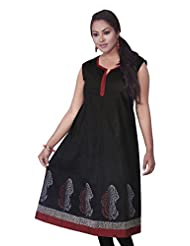 Rucchi By Praveen Women's Cotton Black Kurti
