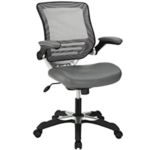 Lexmod Edge Vinyl Office Chair Gray