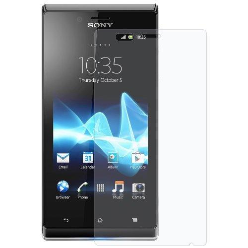 Sony Xperia J ST26i 5x Display-Schutzfolie + Poliertücher Schutz Folien thematys®