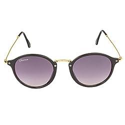 Chevera Voguish Round Black Sunglasses