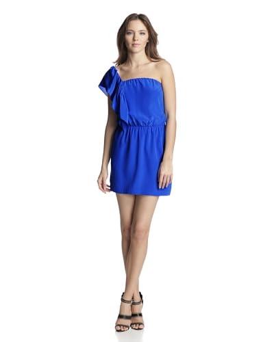 Mason by Michelle Mason Women's Asymmetrical Ruffle Dress