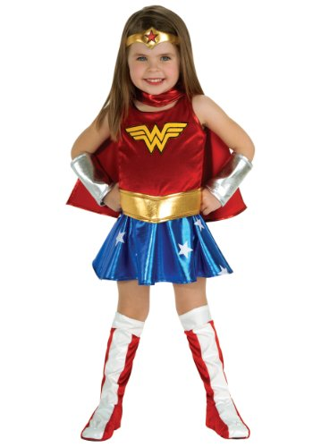 Little Girls' Wonder Woman Toddler Costume Small (4-6)
