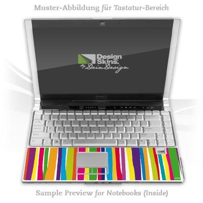 Design Skins für HP EliteBook 2530p Tastatur (Inlay) - Watercolour Stripes Design Folie