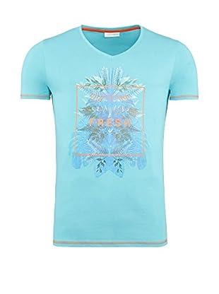 SUMMERFRESH Camiseta Manga Corta Cliff (Azul Claro)
