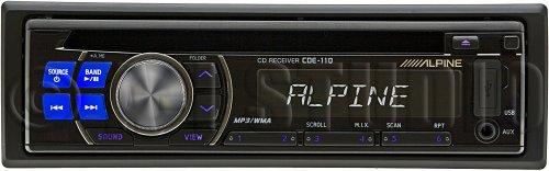 Alpine Cde-110 50 Watts X 4 Cd/Mp3/Wma Cd Receiver