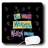 mp_18920_1 Dezine01 Graphics Humor - Wild Wacky Wonderful Woman - Mouse Pads