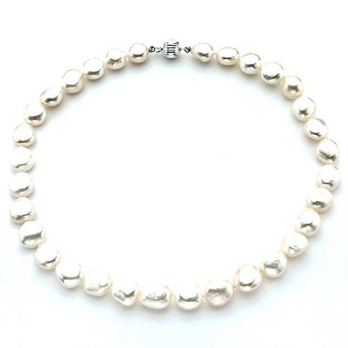 Baroque White Pearl Necklace (13mm)
