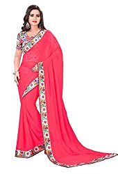 Fashion205 Women Chiffon Saree (TOK-AR7-1031_PeachPuff_PeachPuff_Free Size)