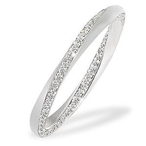 Goldmaid Damen-Ring Glamour Twister 375 Weißgold 120 Diamanten 0,47 ct. Gr. 58 Pa R5342WG58