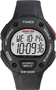 """Timex Men's T5H581 """"Ironman Traditional"""" 30-Lap Watch with Black Resin Strap"""