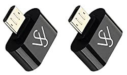 "WireSwipeâ""¢(Pack of 2) Stylist little OTG Adapter Micro USB OTG to USB 2.0 Adapter for Smartphones & Tablets (Multi Color) 1 Year Warranty"