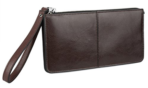 YALUXE-Womens-Leather-Clutch-Checkbook-Wallet-with-Wrist-Strap-Fit-iPhone6-Plus-Samsung-Galaxy-S4-Gift-Box
