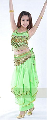 Dreamspell 2014 Fruit Green Dancing Costumes Fashion Sexy Suit For Dancers(3items)