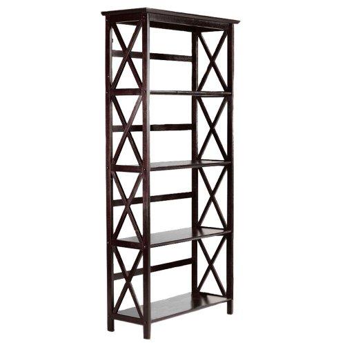 Montego 4 shelf Bookcase, HIGH, ESPRESSO High 4 Shelf Bookcase