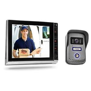 Türsprechanlage TSA4 schwarz/chrom  KomplettSet mit Aufzeichnung/SpeicherFunktion  Video Gegensprechanlage  BaumarktKundenbewertung und weitere Informationen