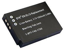 STK's Nikon EN-EL12 Battery - 1400mAh for Nikon Coolpix S9100 S8100 S6100 P300 S6000 S8000 S8200 AW100 S70 S6200 S1100pj S630 S1000pj S610 S1200pj S640 S710 S620 S610c S6150