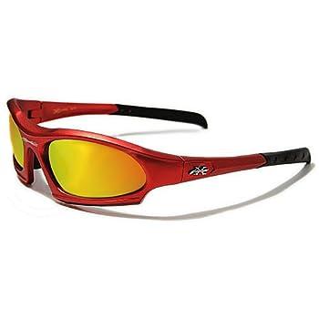 X-Loop Lunettes de Soleil - Sport - Cyclisme - Ski - Conduite - Moto - Plage / Mod. 5101 Rouge / Taille Unique Adulte / Protection 100% UV400