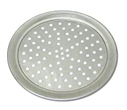 Allied Metal TP19 19-Inch Hard Aluminum Traditional Wide Rim Style Perforated Pizza Tray