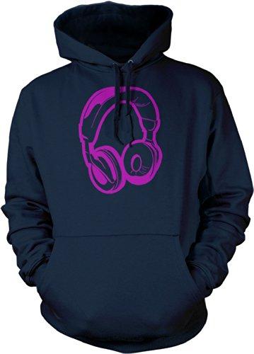 Big Texas Small Headphones Unisex Hooded Sweatshirt, Navy, Xl