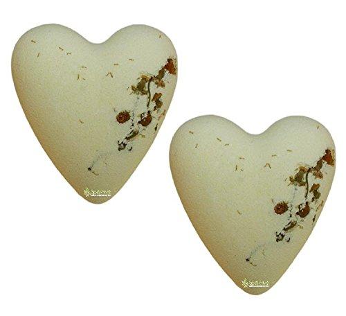 Bombe da bagno Cuori alla Camomilla e Miele Packaging: 2x70g