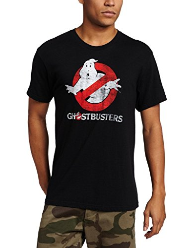Ghostbusters Faded Logo To Go Black T-shirt