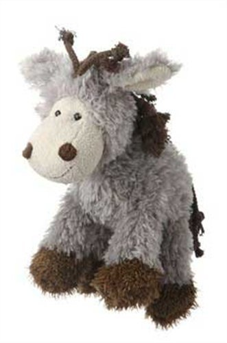Multipet Mane Event 11-Inch Donkey Plush Dog Toy
