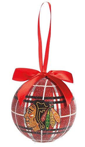100Mm Led Ball Ornament, Chicago Blackhawks