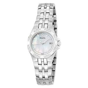 Bulova Women's 96R126 24 Diamond Case Mother of Pearl Dial Bracelet Watch