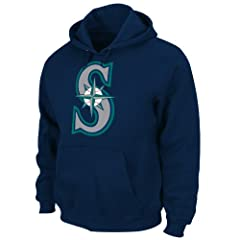 Seattle Mariners Navy Authentic Hooded Sweatshirt by Majestic by Majestic