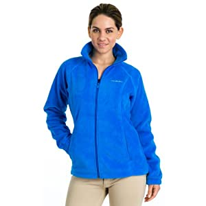 Columbia Women's Benton Springs Full Zip Fleece Jacket, Hyper Blue, Medium