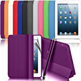 Zonewire® Ultra Thin Magnetic Smart Case Cover + Hard Back Case & Stylus Pen & Screen Protector For New Apple Ipad 2 3 4 (Pink)