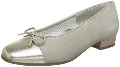 ara Bari 12-33708-41, Damen Ballerinas, Beige (platin,cotton), EU 41 (UK 7)