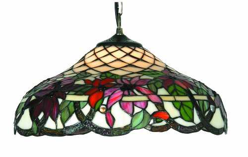 Oaks Lighting Adara Tiffany Pendant, 16-inch