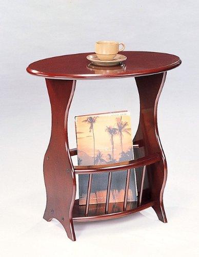 Image of Oval Magazine Storage End Table (B0002KNQ4U)