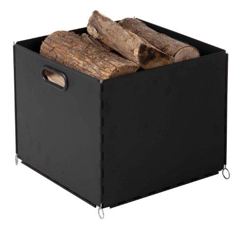 kaminholz beh lter schwarz lackiert hier g nstig kaufen. Black Bedroom Furniture Sets. Home Design Ideas