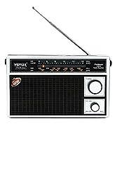 Vemax Platinum 3-Band (Fm/Am/Mw) Portable Radio (Black & Silver)