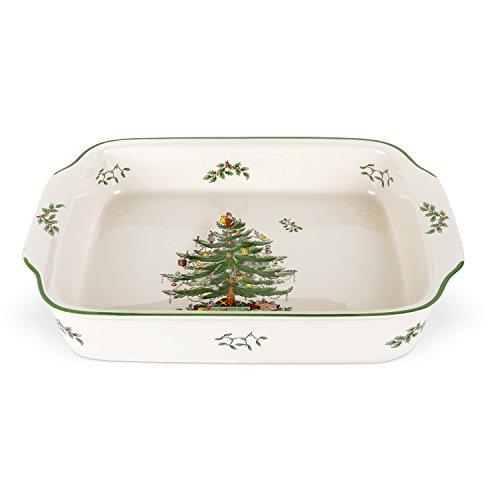 Spode Christmas Tree Rectangular Handled Dish