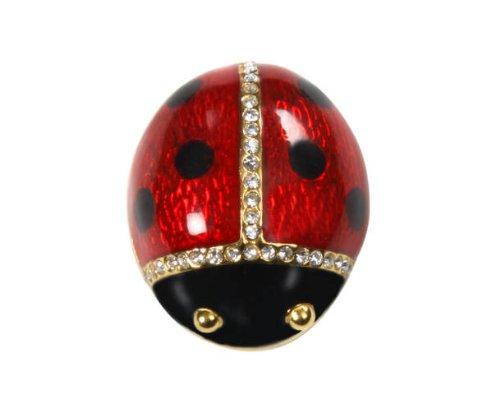 Ladybug Brooch Pin Jewelry Swarovski Crystal