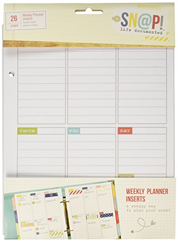 Simple Stories Snap Life Plan Your Week 52 Weeks Double-Sided Inserts (26 Pack) - 1