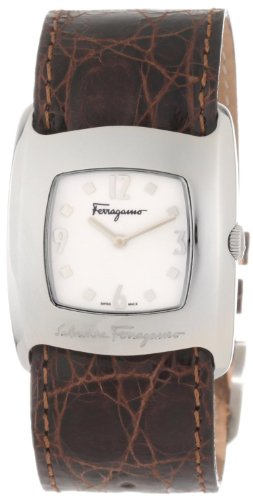 Ferragamo Women's F51SBQ9991 SC13 Vara Steel Brown Crocodile Strap Watch