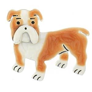 Bulldog Enamel & Silver Pin