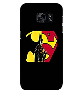 PrintDhaba Superman D-5563 Back Case Cover for SAMSUNG GALAXY S7 (Multi-Coloured)
