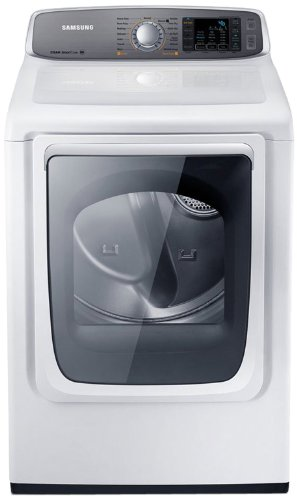 Samsung Dv50F9A8Gvw Gas Front Load Dryer With Steam Dry, 7.4 Cubic Feet, Neat White