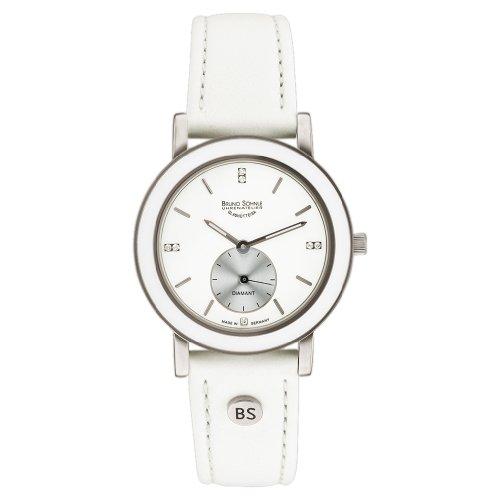 Bruno Söhnle Women's Quartz Watch with Silver Leather Naturale I Analogue Quartz 17-93140-991